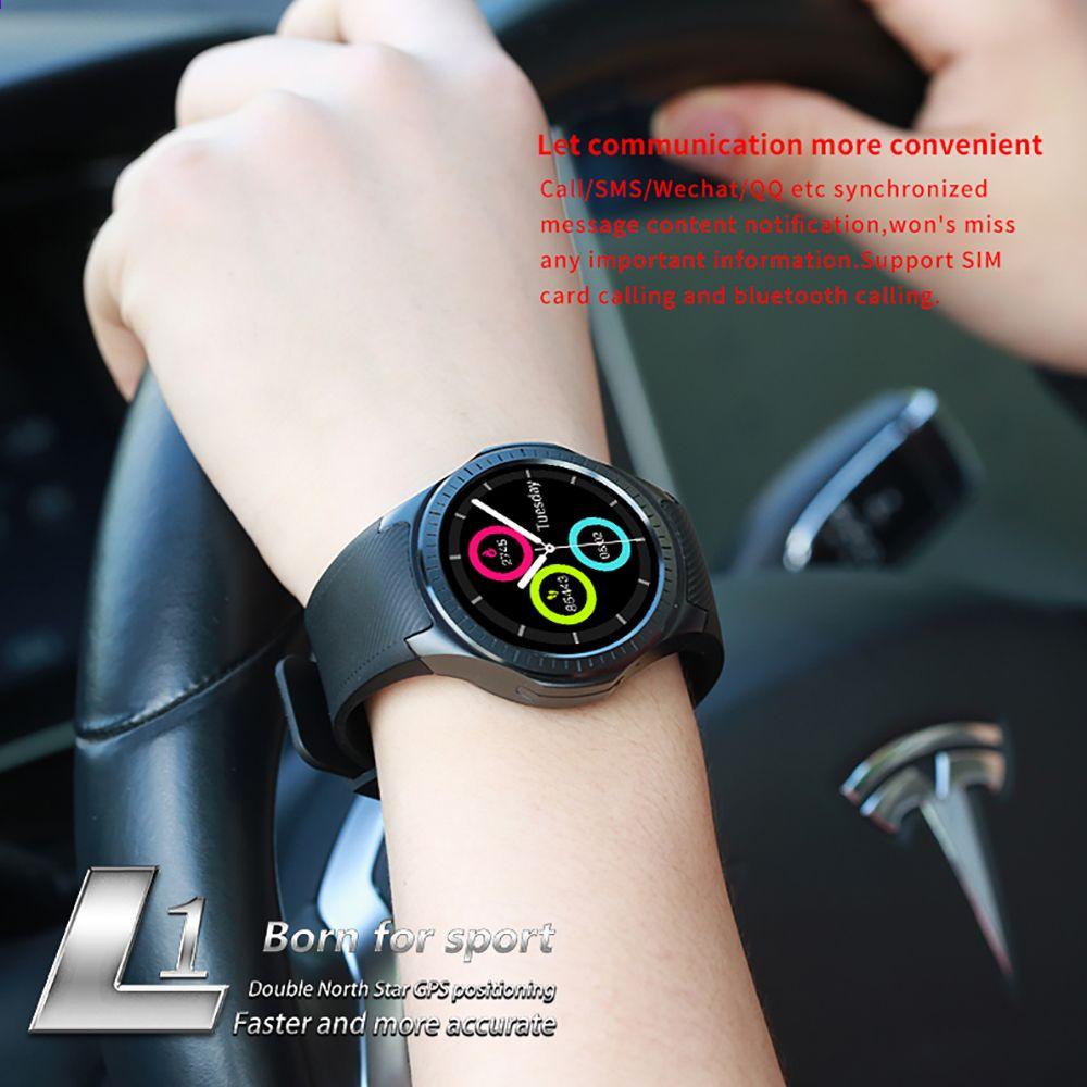 L1 Profesyonel Spor Akilli Izle Bluetooth Padometer Uyku Kan Kalp Hizi Monitor 2g Android Akilli Telefon Inserd Gps Sim Tf Smart Watch Bluetooth Smart