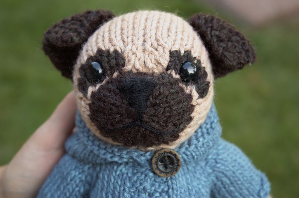 Pug with Anorak | Knitting patterns and Patterns