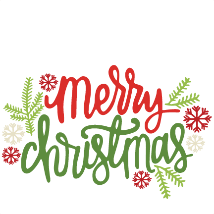 Merry christmas cute. Title svg scrapbook cut