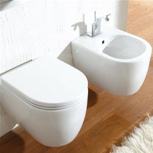 Sanitari Sospesi Ceramica Per Arredo Bagno Moderno Wc Bidet Sedile