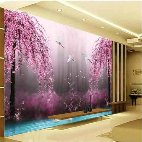 Purple Romantic Bedroom Wallpaper Designs
