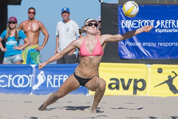 Q A With Pro Beach Volleyball Player Emily Day Smoothie King Beach Volleyball Professional Volleyball Volleyball