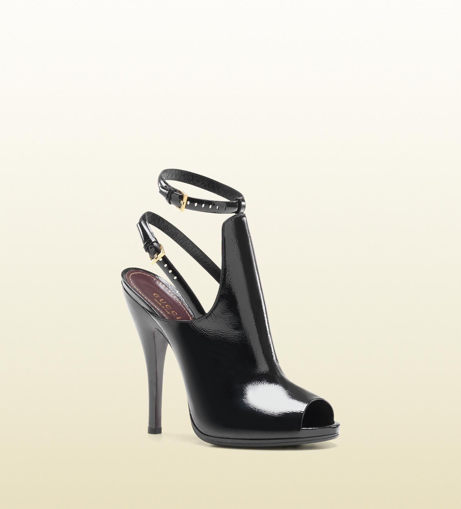 Gucci - bottines à talons hauts et bout ouvert jane Automne-Hiver 2012 70b695b2c3f