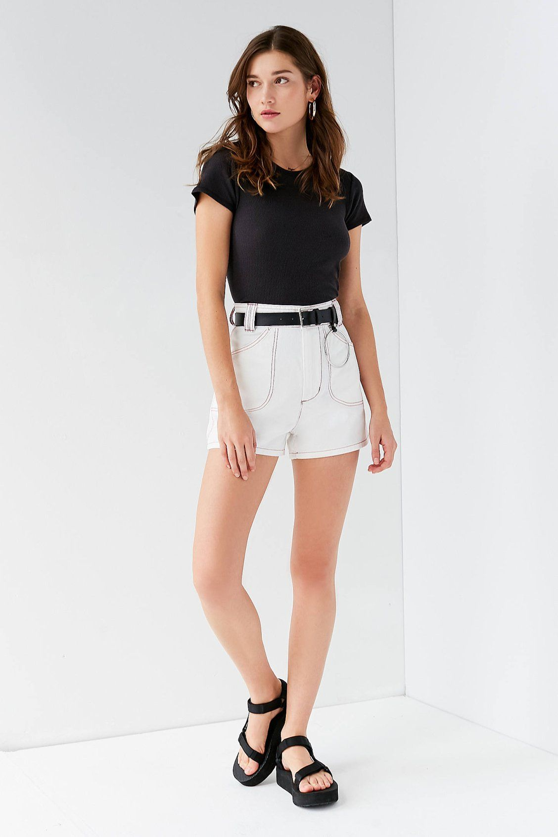 17b4cfcb08 BDG Delaware Contrast Stitch Short | New Arrivals | Fashion, Outfits ...
