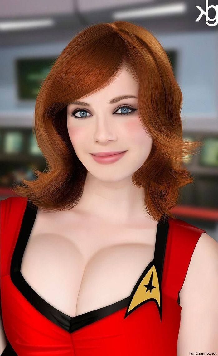 Intelligent hot redhead