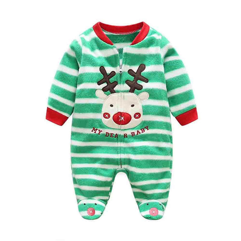 f955c01bb Babe Maps Green Stripes Printed Blanket Sleeper Pajamas