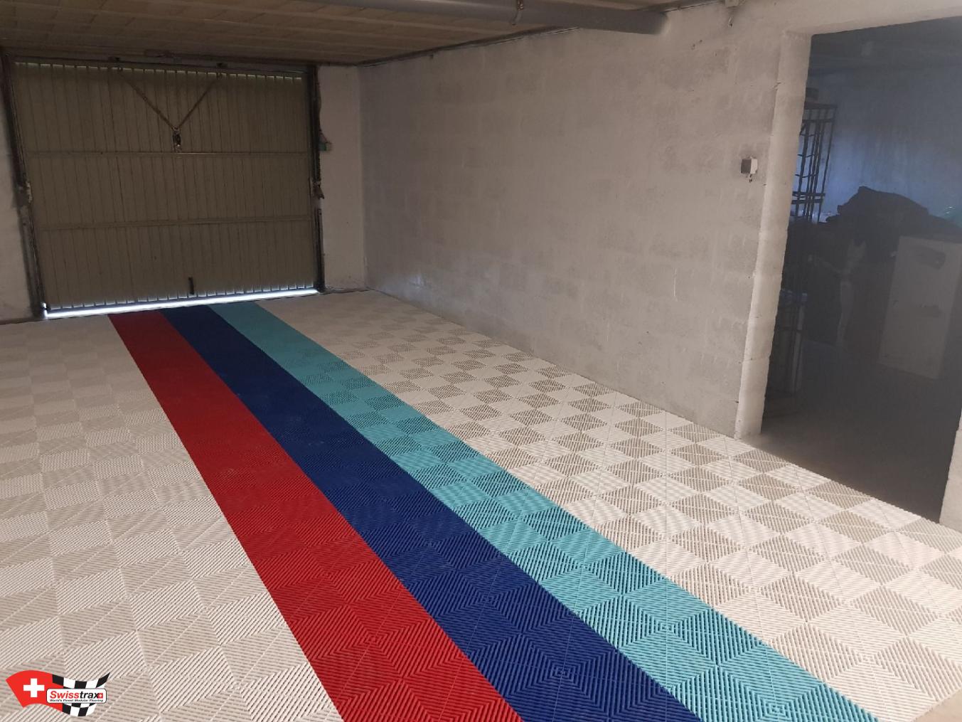 Revetement De Sol Pour Garage dalles de sol swisstrax pour votre garage . modèle ribtrax