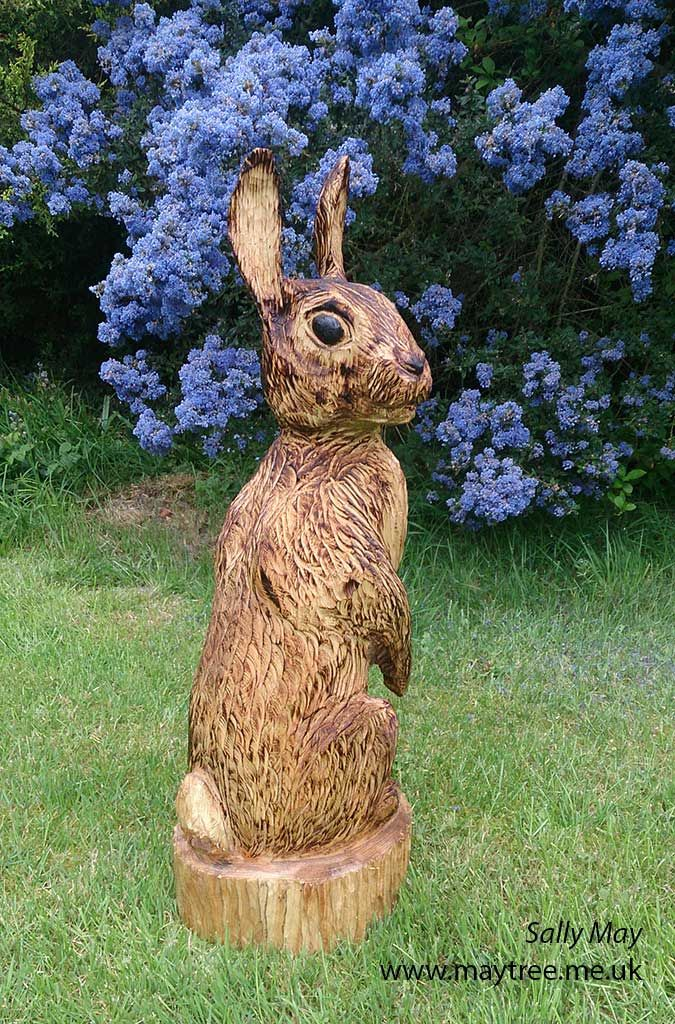 Maytree chainsaw carvings and sculpture rabbit