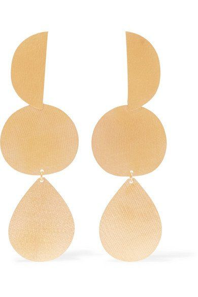 Halo Gold-tone Earrings - one size Annie Costello Brown XvlWAl