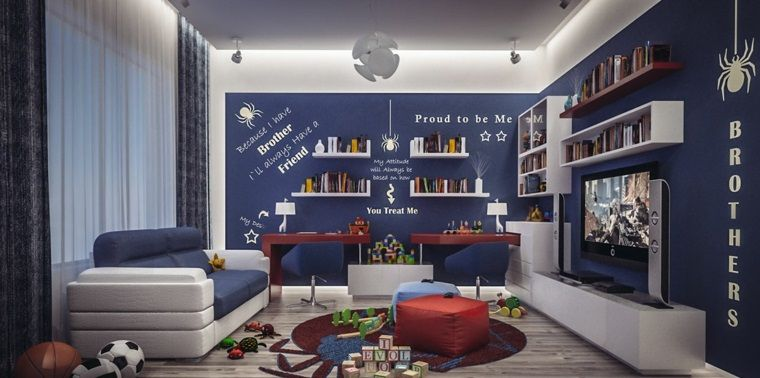 Pintar paredes o poner papel de pared 50 habitaciones de niños #dunklewände