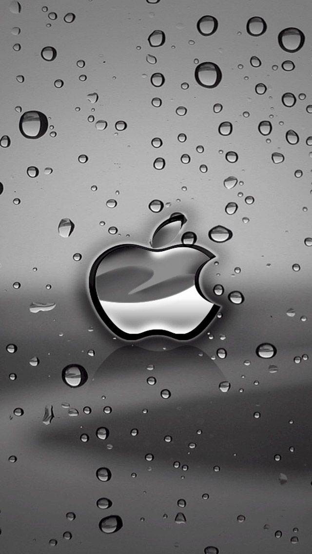Free Download Apple Logo iPhone 5 HD Wallpapers Watery