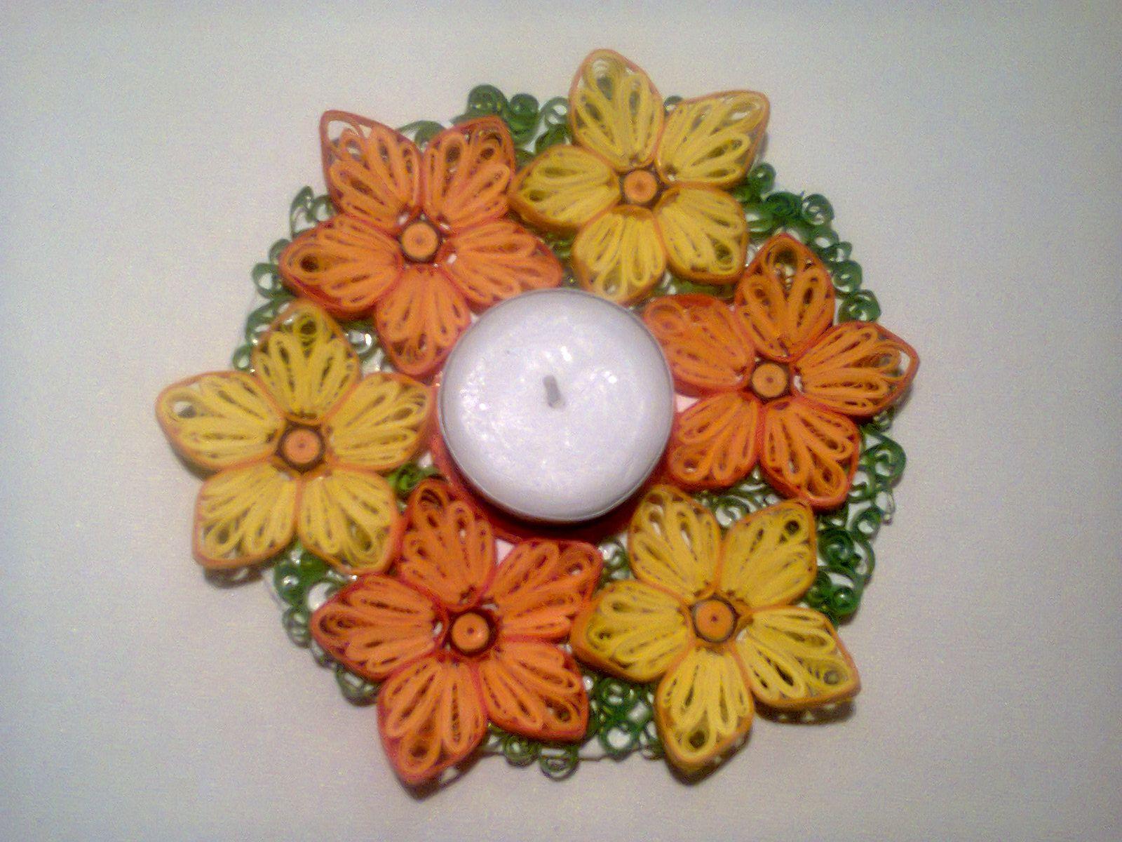 Koszyki Z Wikliny Papierowej Ozdabiane Roznymi Metodami Quilling Decupage Kwiaty Z Bibuly Czy Krepy Quilling Candle Holder Quilling Flowers Paper Quilling