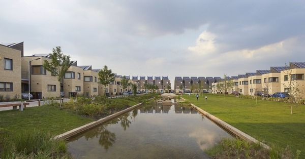 Barking Riverside residential development in Greater London by Sheppard Robson. (Photograph by Hufton+Crow)