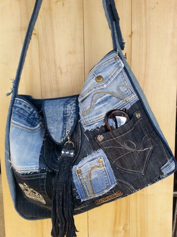 Denim bag by beata jarmolowska bag pinterest for Borse fai da te jeans