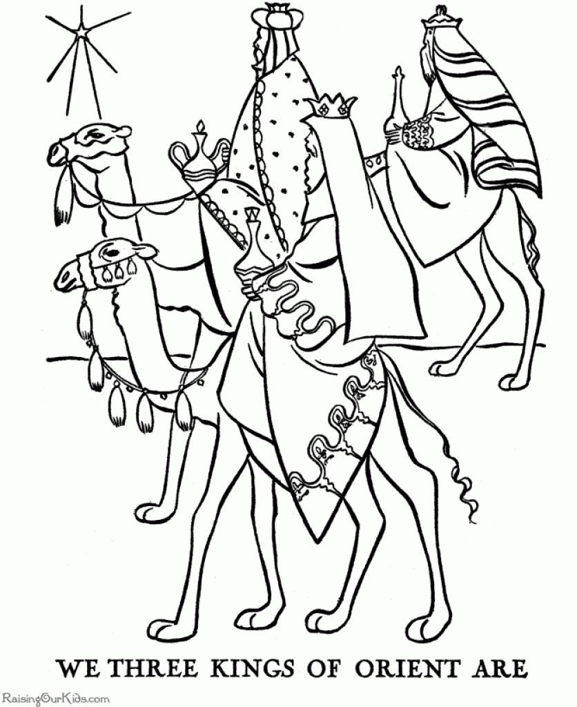 Colouring pages for epiphany - 1000 Images About Christmas Colouring Pages On Pinterest With Regard To Wise Men Coloring Page