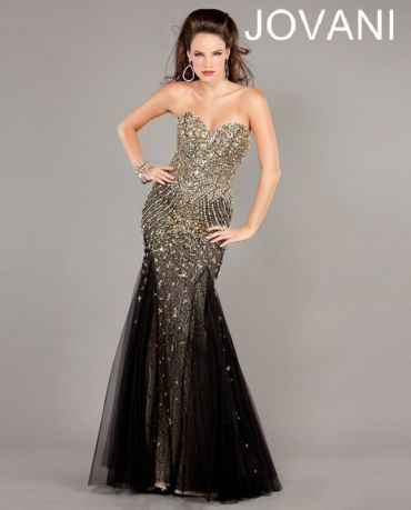 Jovani 6837 Beaded Evening Gown In Black W Shades Of Silver 440 At
