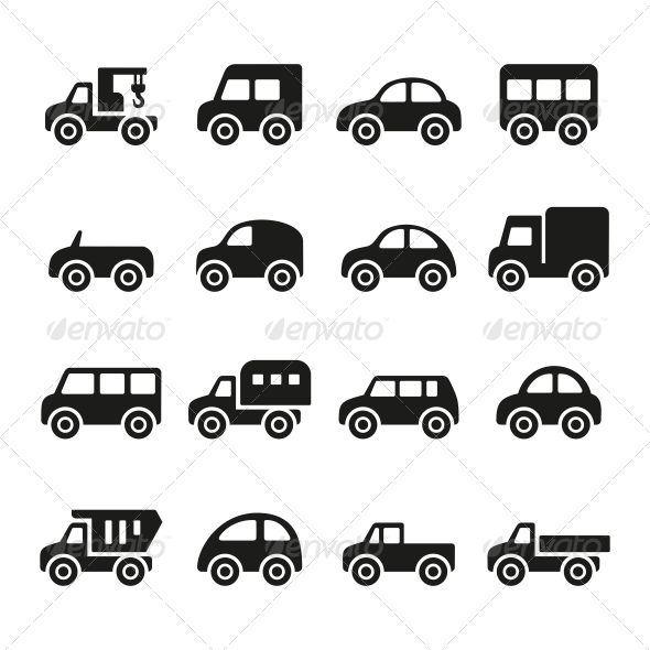 Cars Icon Set Icon Cars Malvorlagen Fur Kinder Applikationsvorlagen