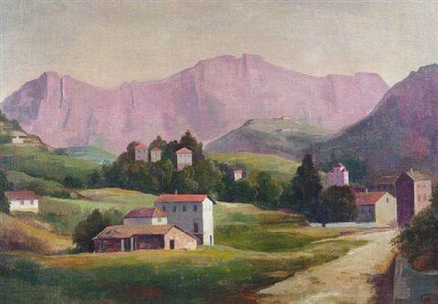 """KARL HOFER MONTAGNOLA - """"Landschaft im Tessin"""""""