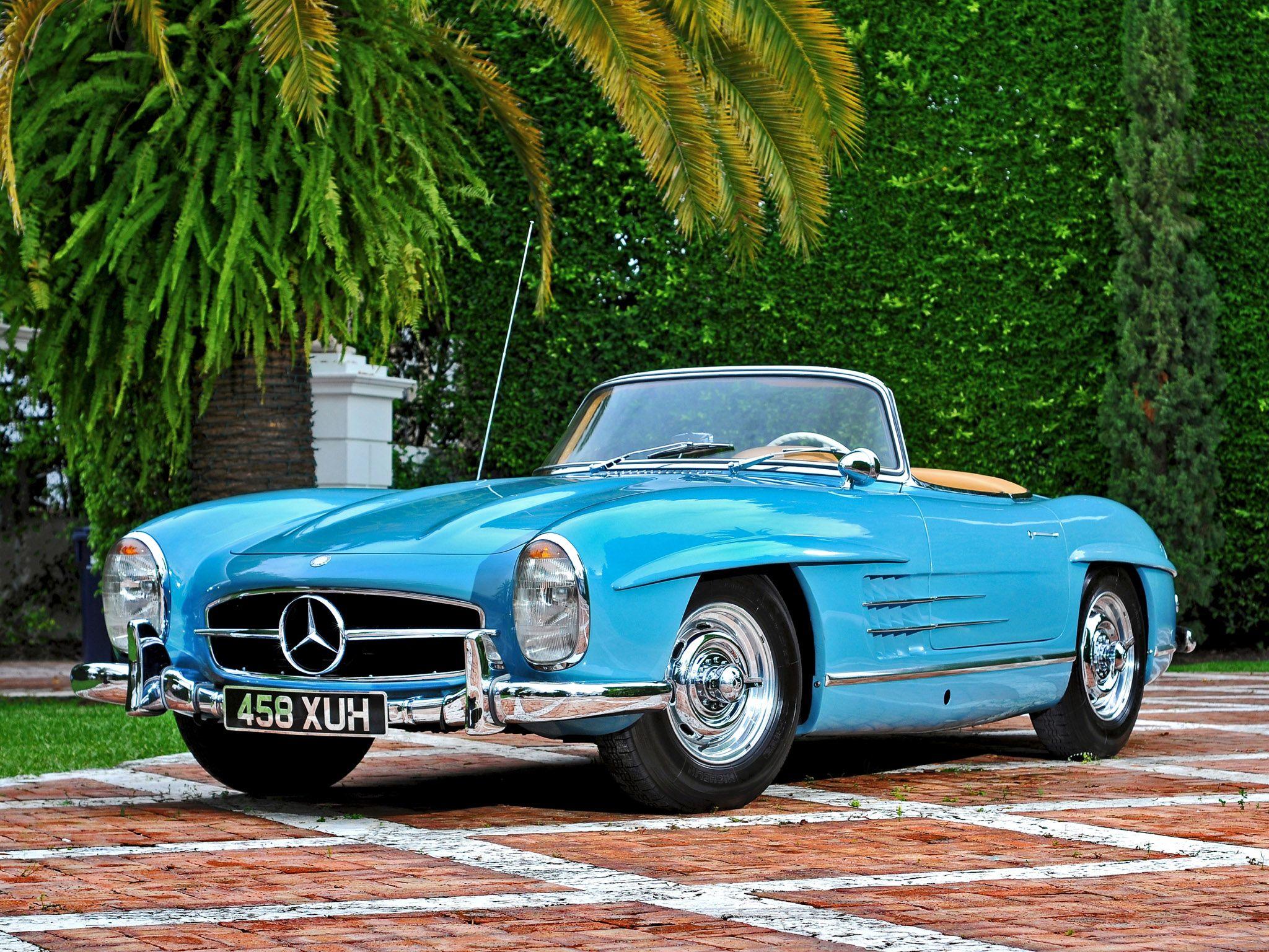 1957 Mercedes Benz 300sl R198 Retro H Wallpaper 2048x1536 105982 Wallpaperup Mercedes Sls Mercedes Benz Classic Mercedes Convertible