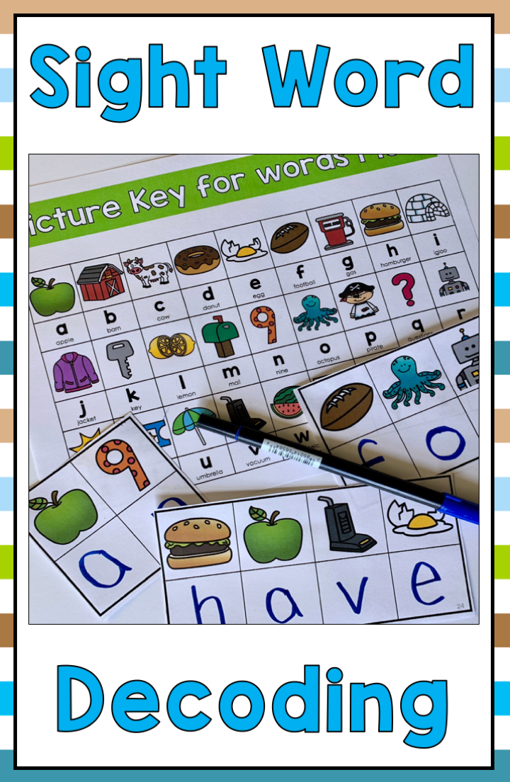 Sight Word Decoding Activity Great For Kindergarten Or First Grade Students Perfect As A Center Activit Decoding Activities Sight Word Activities Sight Words [ 1104 x 720 Pixel ]