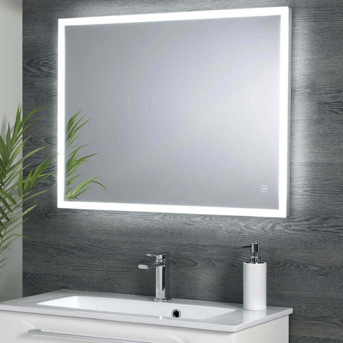 Harbour Glow Led Mirror With Demister Pad Infrared Touch Button 800 X 600mm S A Cuartos