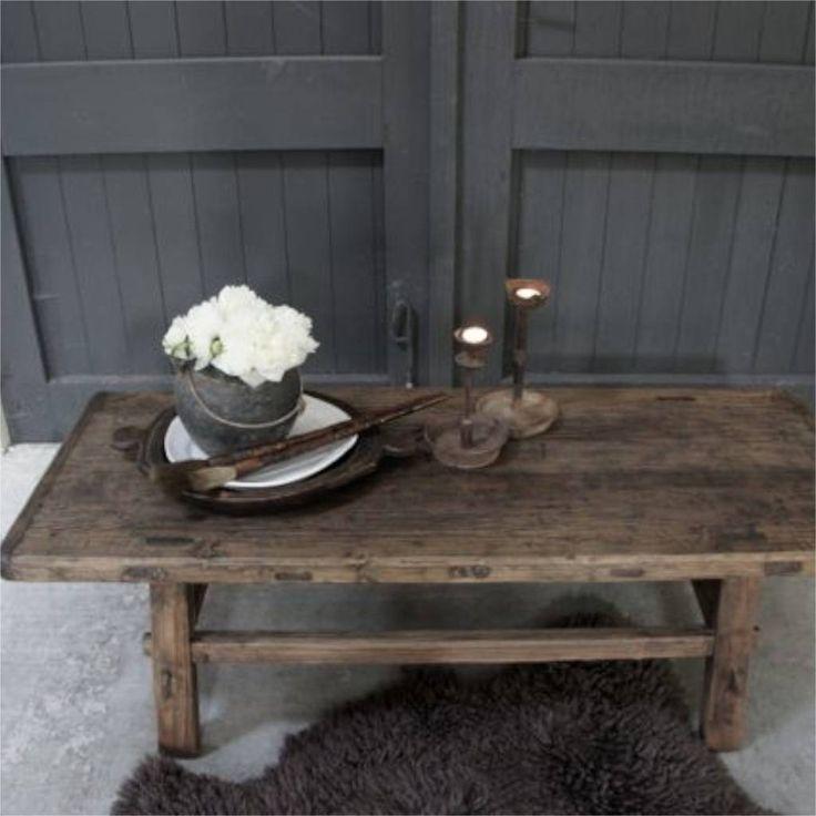 Oud hout decoration pinterest oud hout hout en salontafel - Deco chalet hout ...