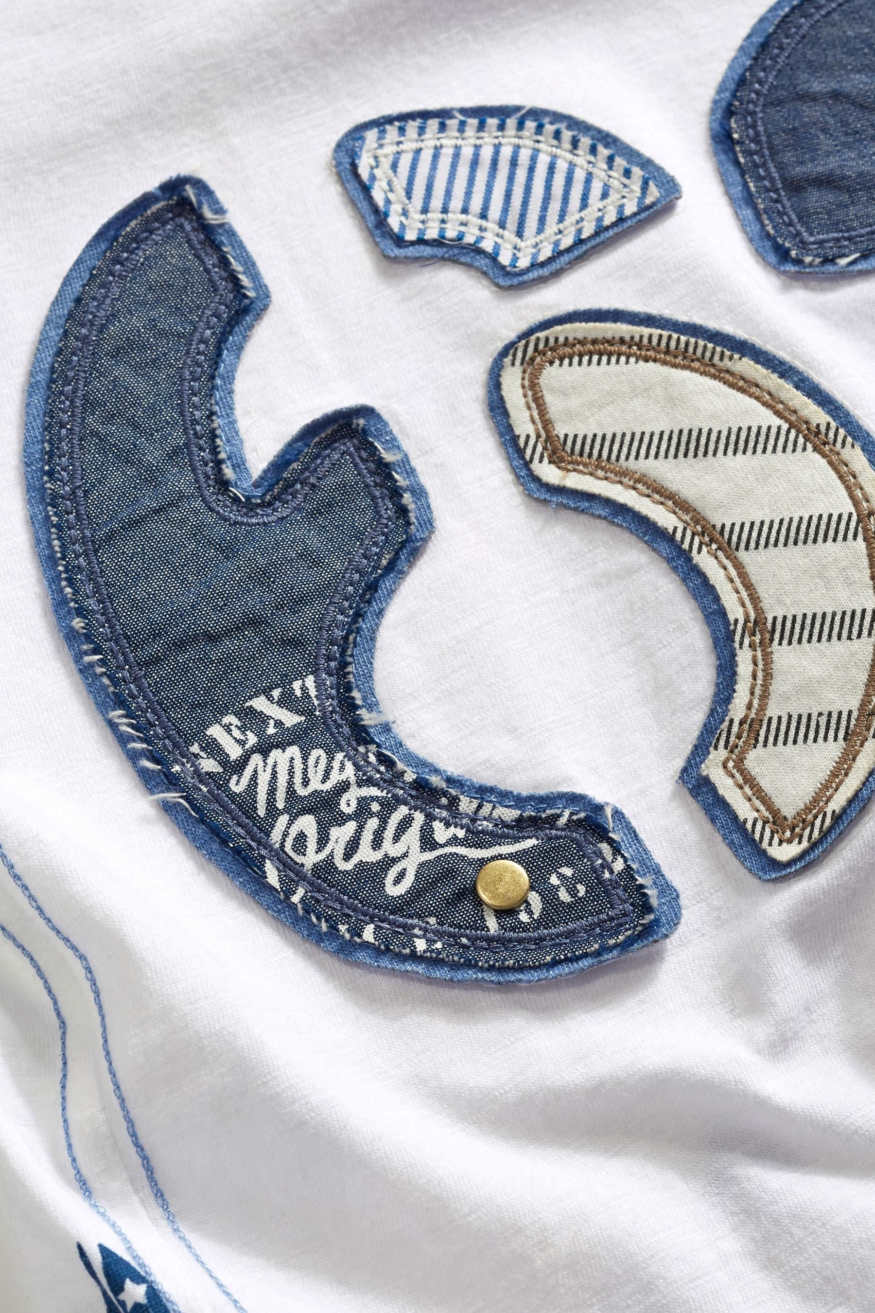 Buy White 62 Appliqué T-Shirt (3mths-6yrs) from the Next UK online ...