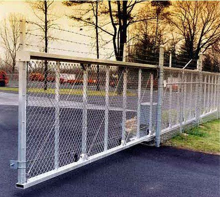 Wilcox Gates The Fortress Heavy Duty Slide Gate Manufactured By Wilcox Gate Is The Highest Quality Cantilever Ga Security Fence Automatic Gate Sliding Gate
