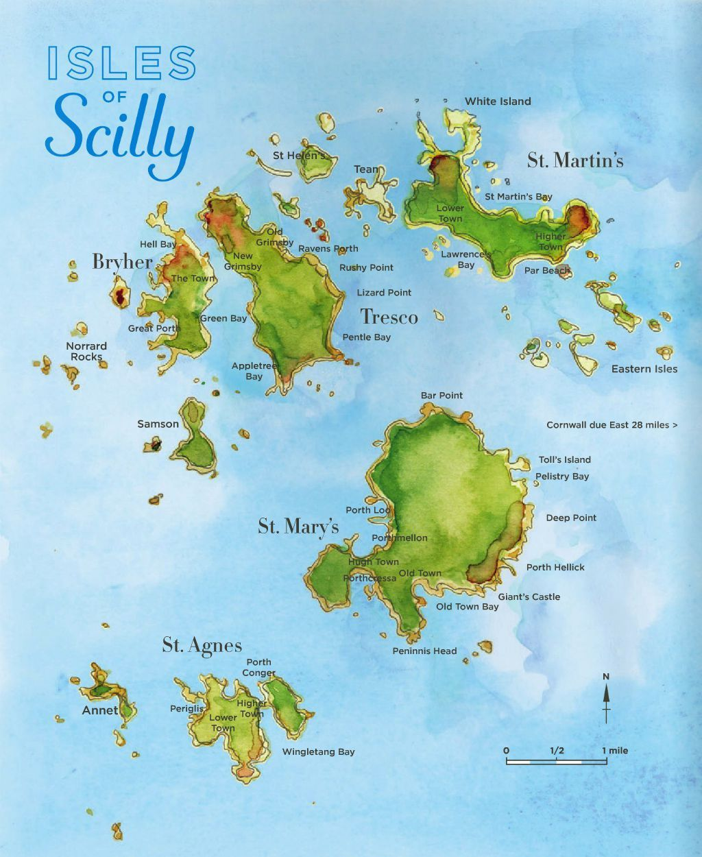 Scilly Isles Map We're Off To The Isles Of Scilly! | City & Map illustrator   城市  Scilly Isles Map
