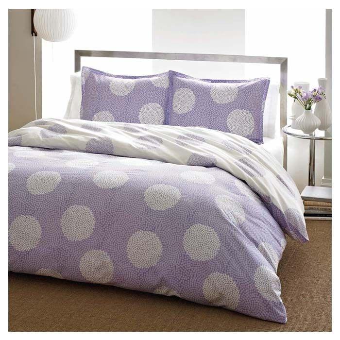 Lavender With White Polka Dot Comforter Set