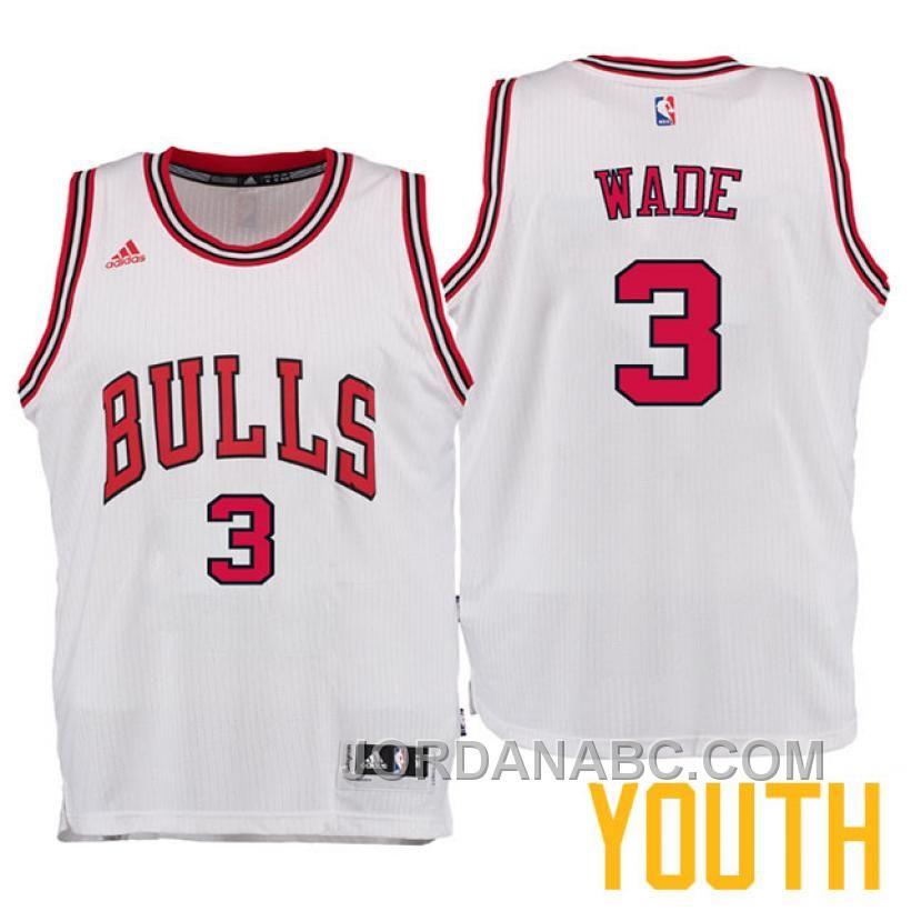 http   www.jordanabc.com dwyane-wade-chicago-bulls -3-new-swingman-home-white-youth-jersey-on-sale.html DWYANE WADE CHICAGO  BULLS  3 NEW SWINGMAN HOME WHITE ... f989c3377