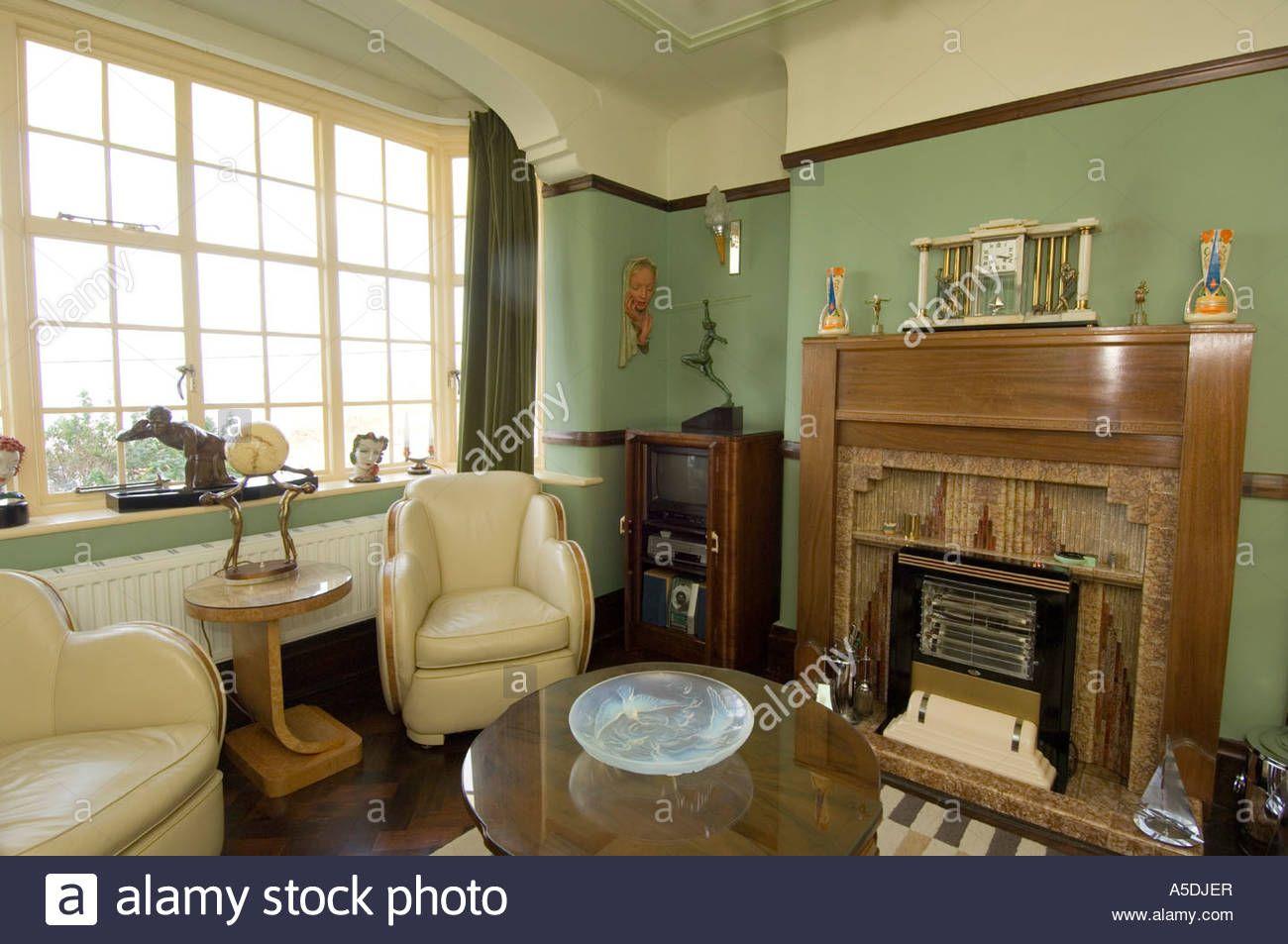 Download this stock image refurbished art deco 1930 s - Refurbished living room furniture ...