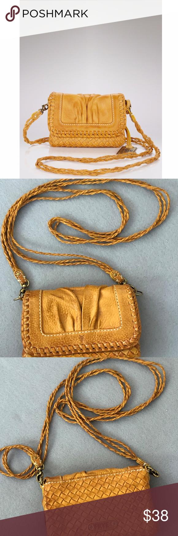 "acfecd76b Frye ""Maddy ""mini crossbody bag / wallet Beautiful little crossbody in a  pretty yellow"