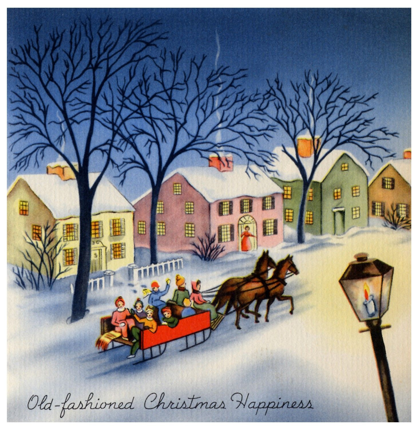 Wishing you old fashioned christmas happiness vintage christmas wishing you old fashioned christmas happiness vintage christmas cards kristyandbryce Image collections