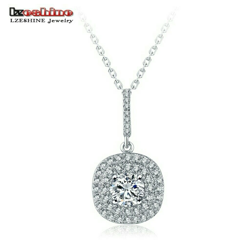 Cz silver ct diamond necklace