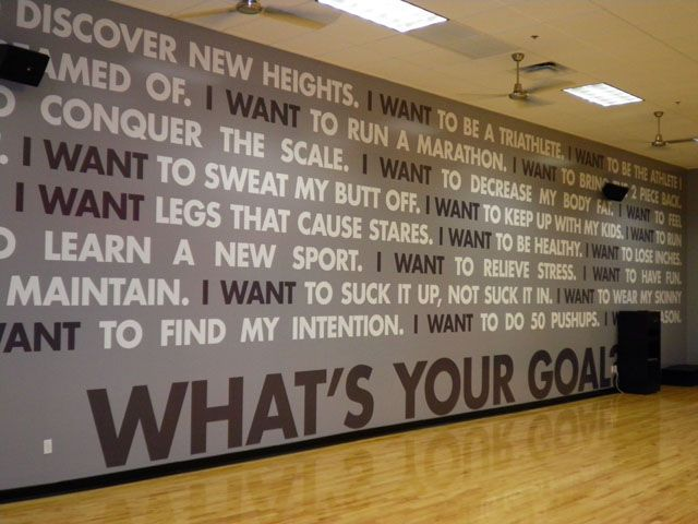 Workout wall decals signs by tomorrow whitepaper custom