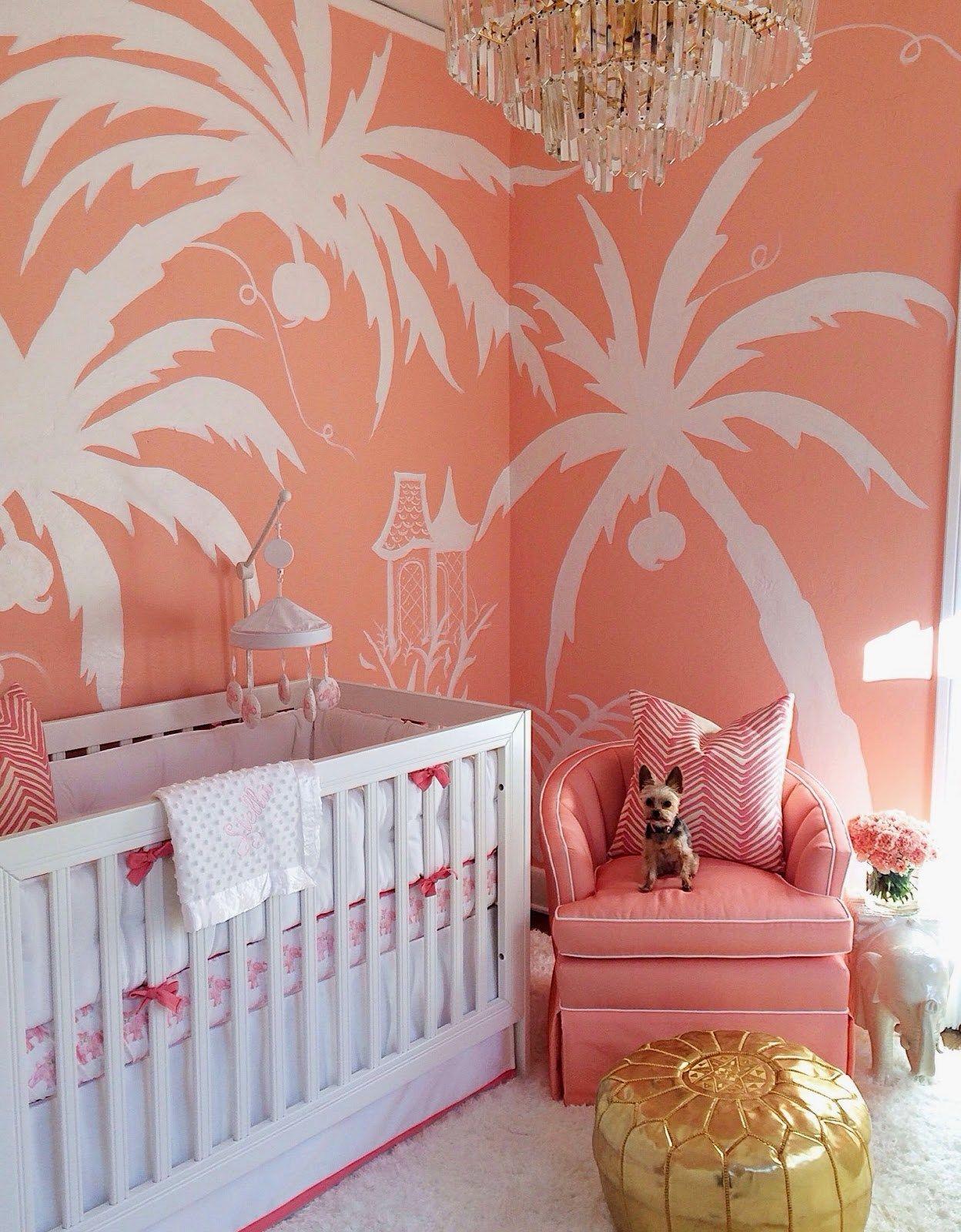 A Nursery For A Palm Beach Princess Beach Baby Showers