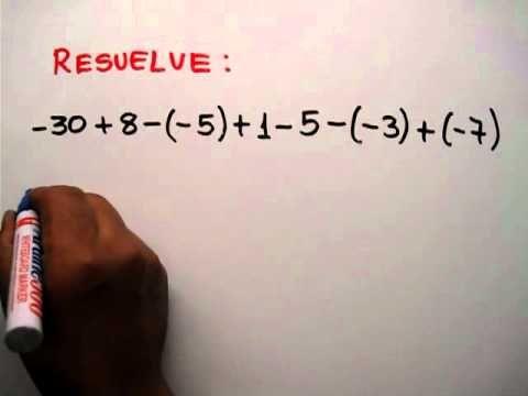 Ley de signos para la suma, resta, multiplicación y división de ...