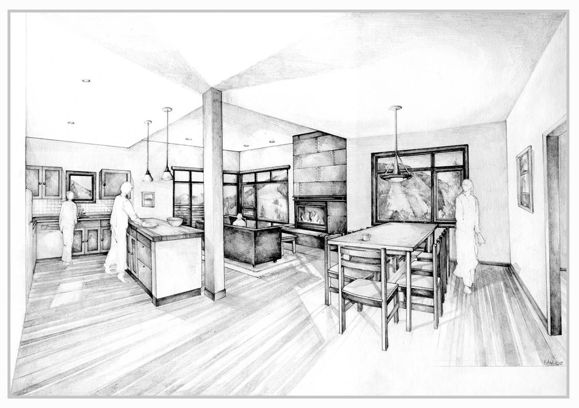 Architectural Illustration Interior