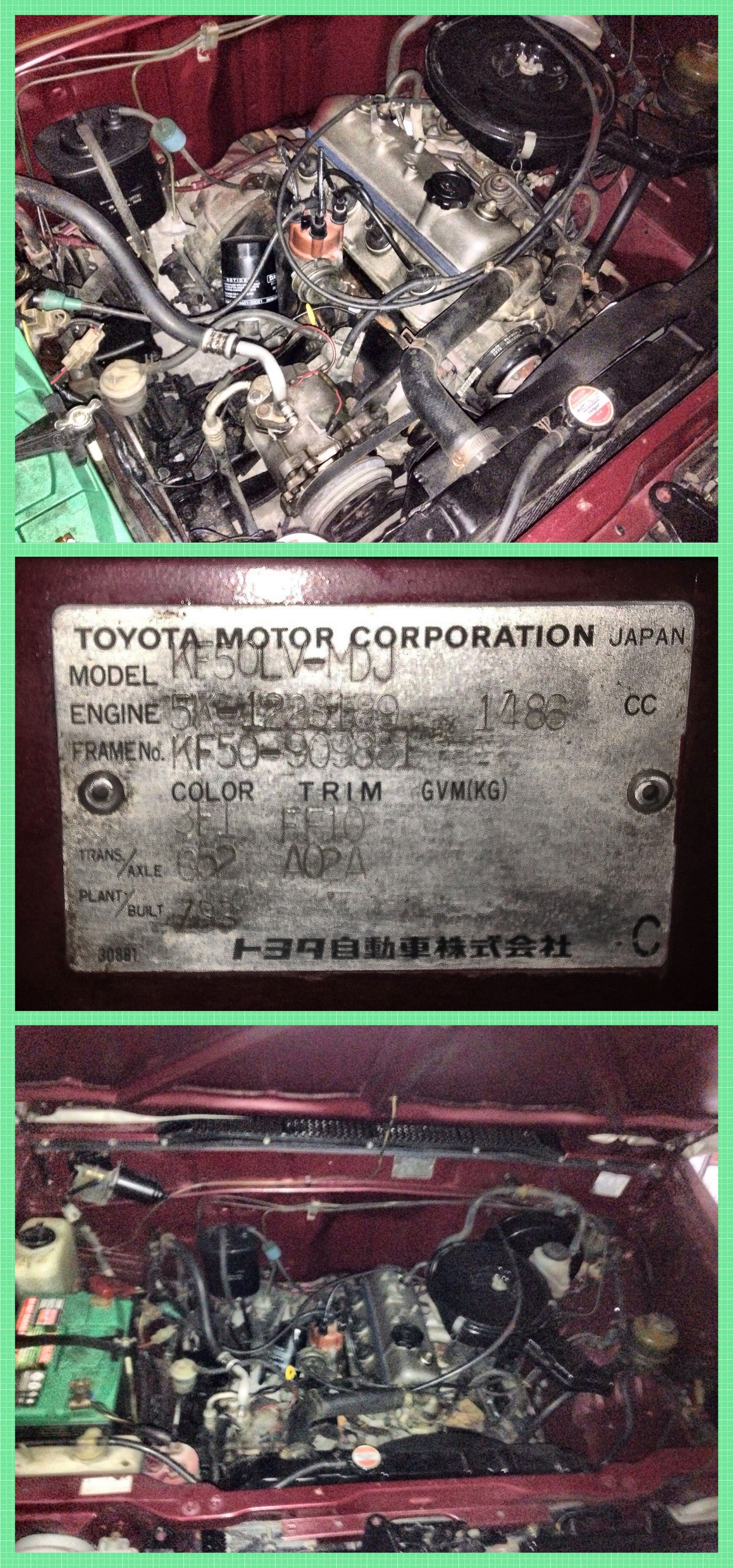 1995 Toyota Tamaraw FX with a 5K Gasoline Engine.