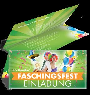 Gratis Einladungskarten Vorlagen Für Ihr Faschingsfest.