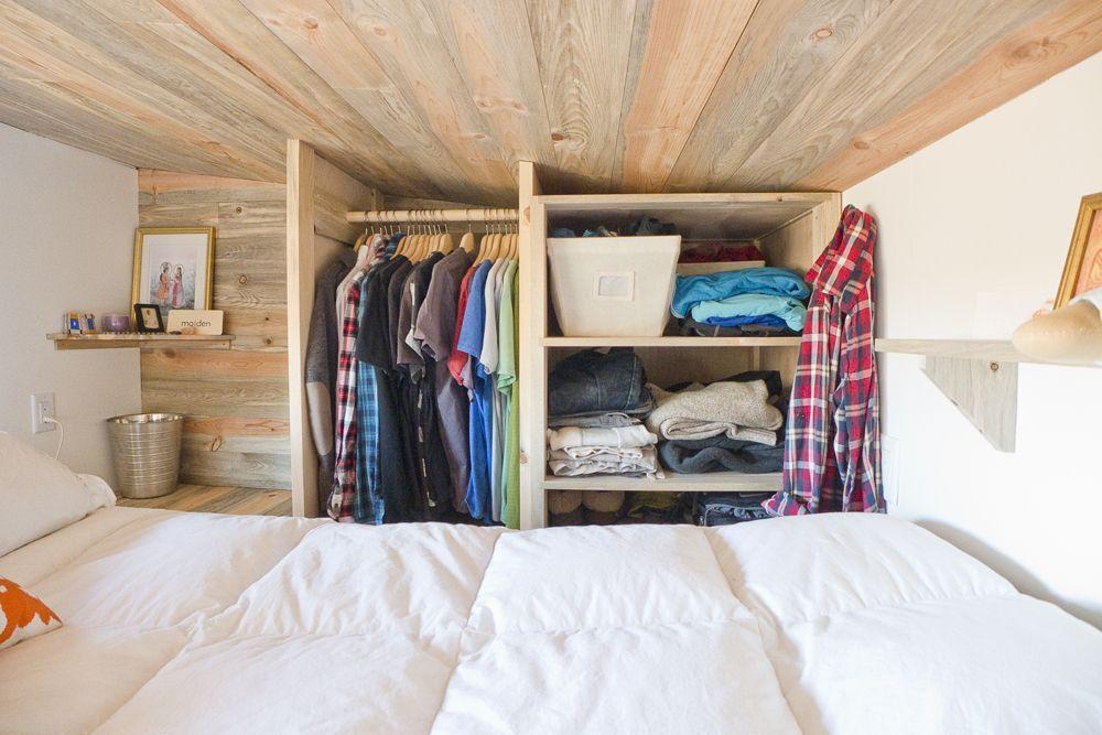 Tiny House Loft Closet Space Tiny Apt Tinier Closet Pinterest