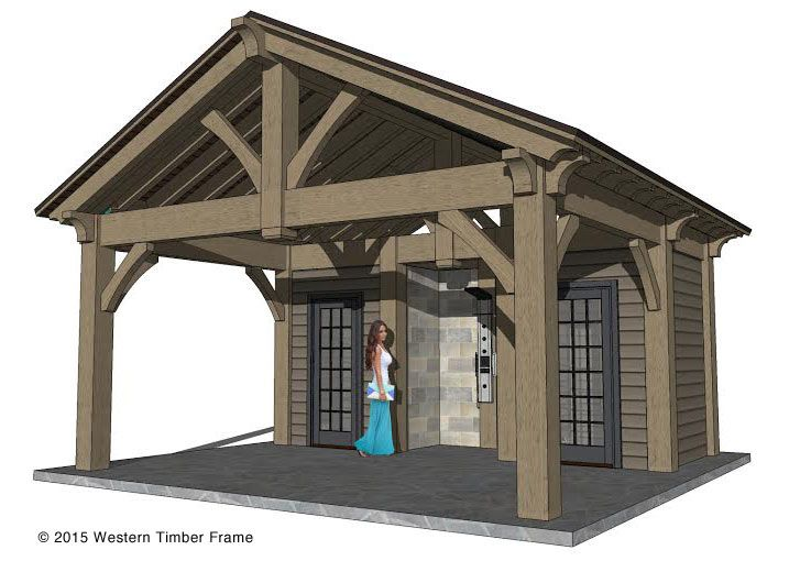 Diy timber frame pool side pool house pool side for Pool house shed plans