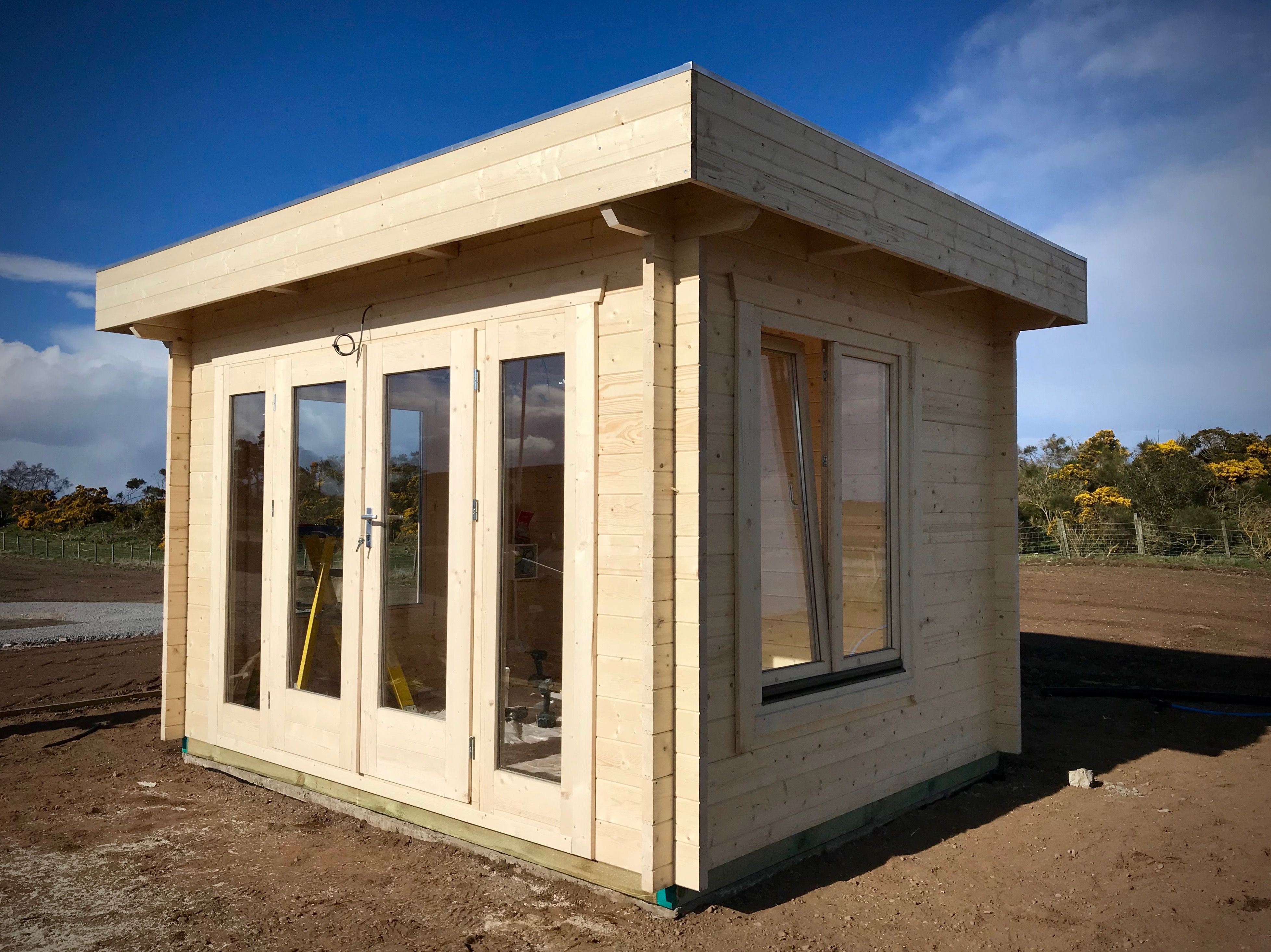 Best This Is A 2 5M X 3 3M Flat Roof Cabin In A 45Mm Wall With 400 x 300