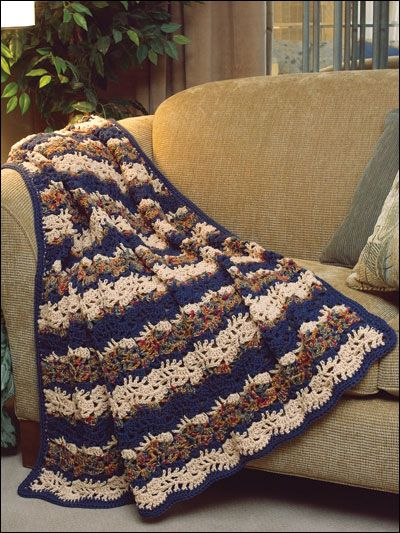 Crochet - Afghan & Throw Patterns - Popcorn, Ripple & Shell Patterns ...