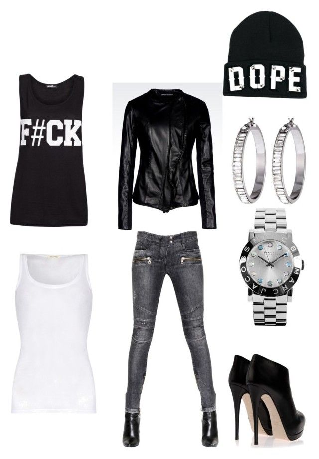 Dope by missjohnsonlovesfashion on Polyvore featuring polyvore, fashion, style, American Vintage, Emporio Armani, Balmain, Giuseppe Zanotti, Marc by Marc Jacobs, Henri Bendel, Funky Bling, women's clothing, women's fashion, women, female, woman, misses and juniors