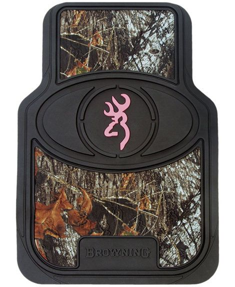 Browning Buckmark Pink Trimmed Camo Floor Mat Set Gifts