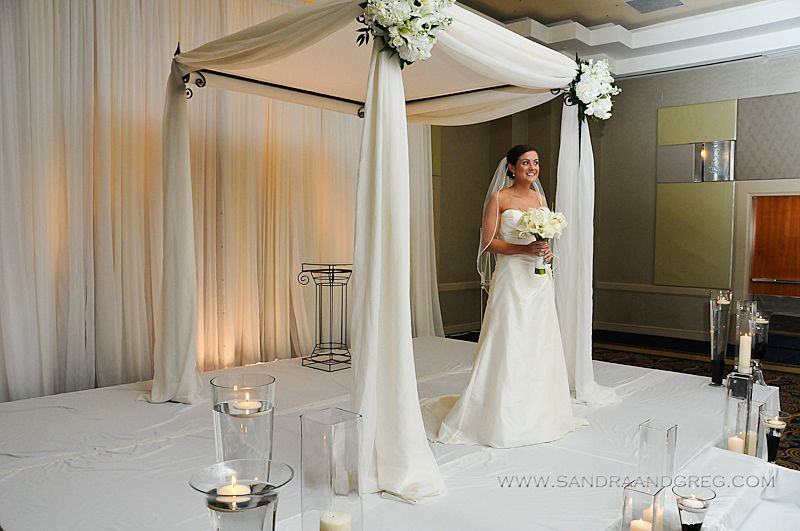 beautiful chuppah love the chupah but the background and flooring take away from its simple elegance