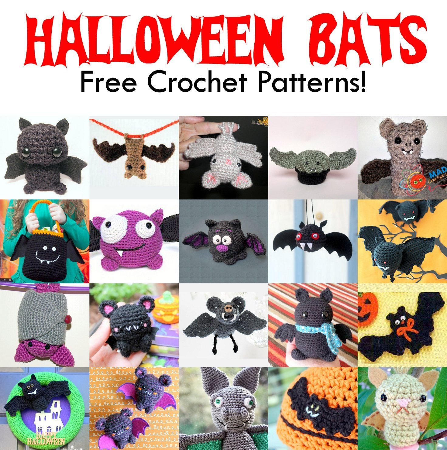 Free Halloween Bat Crochet Patterns http://hubpages.com/art/Free-Halloween-Bat-Crochet-Patterns