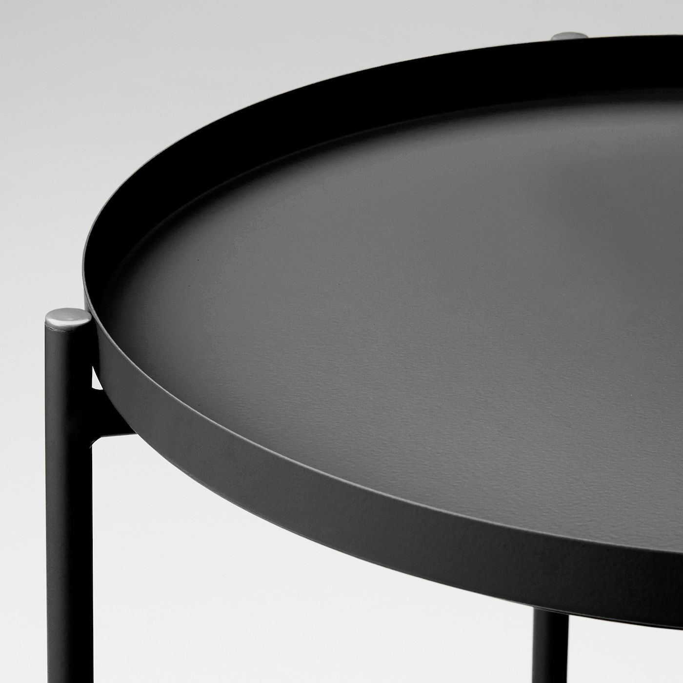 Gladom Tray Table Black 17 1 2x20 5 8 Ikea In 2021 Tray Table Round Black Coffee Table Ikea Tray Table [ jpg ]